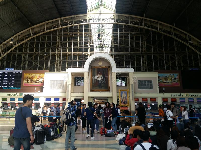 中央火车站在曼谷,泰国 库存照片