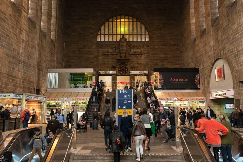 中央火车站的大厦的内部 库存照片