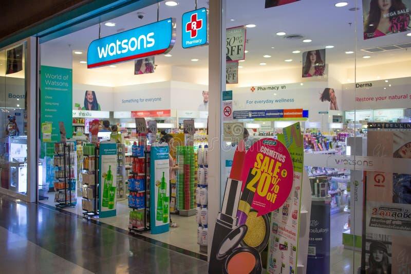 中央节日的Chiangmai Watsan商店 免版税库存照片