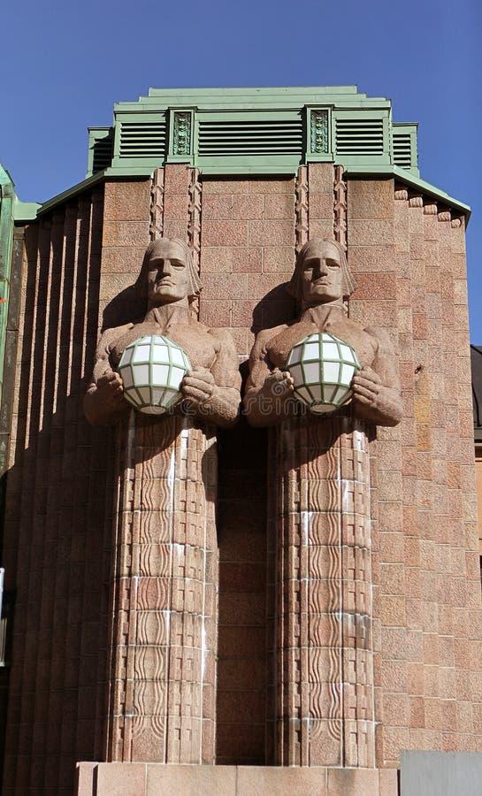 中央详细资料赫尔辛基火车站 库存图片