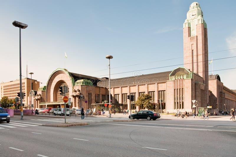 中央赫尔辛基火车站 库存图片