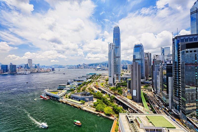 中央香港 库存照片