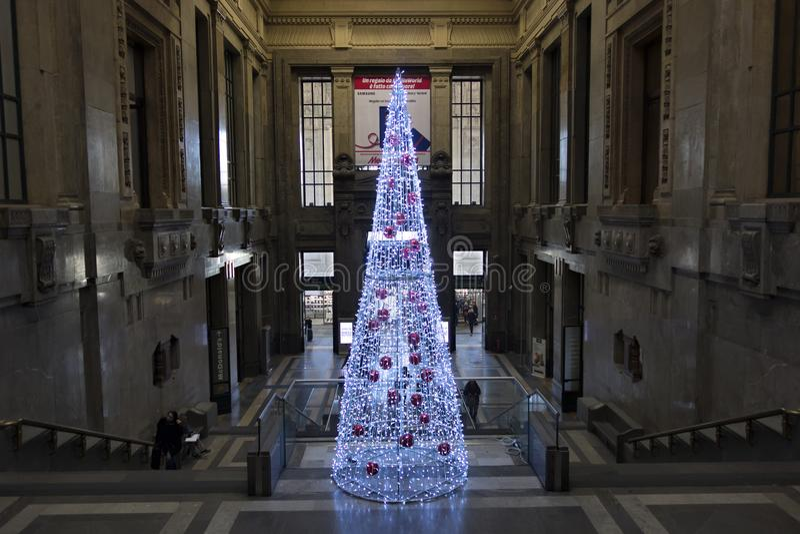 中央驻地的内部在米兰,意大利 库存图片