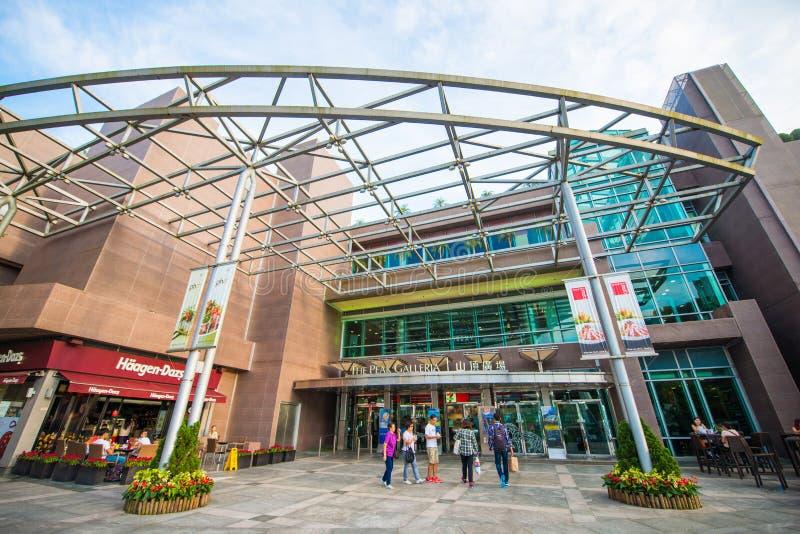 中央,香港- 2016年9月21日:峰顶和峰顶Towe 库存照片