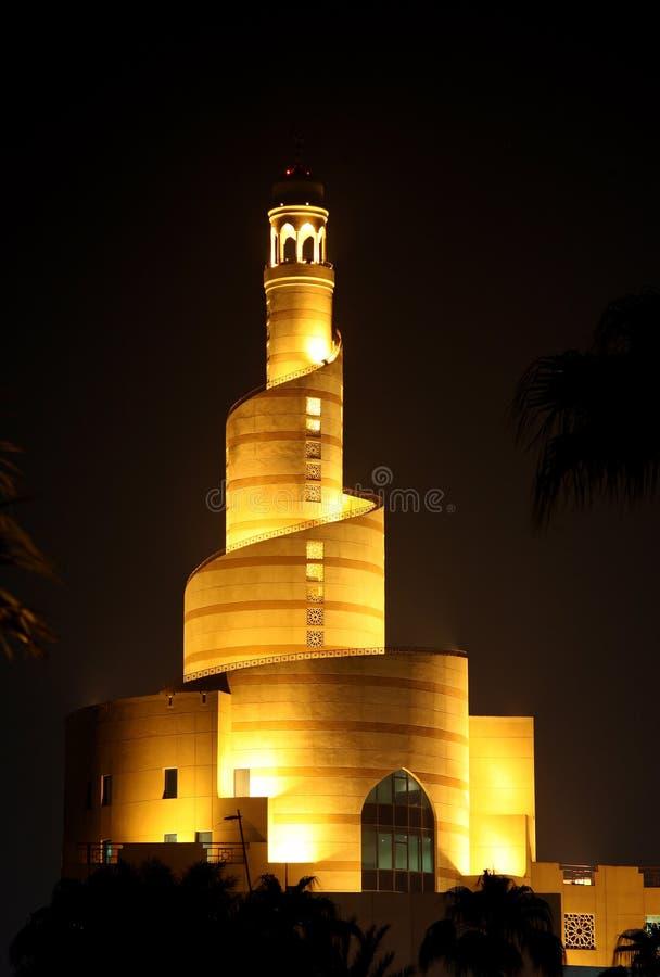 中心伊斯兰的多哈 库存照片
