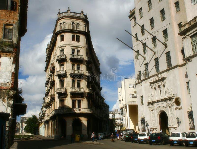 中心哈瓦那街道 库存图片