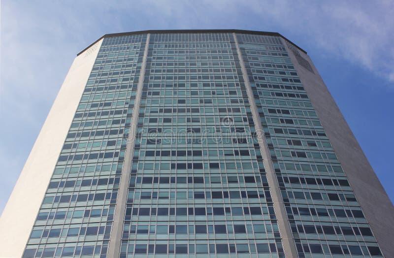 中心商务区在财政米兰的摩天大楼-和经济中心 库存图片