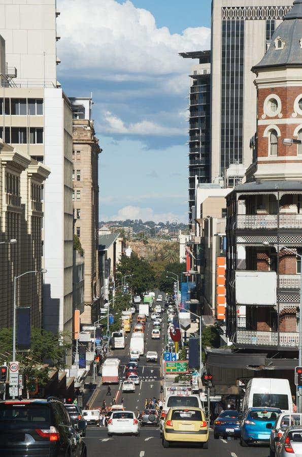中心城市交通 免版税库存图片