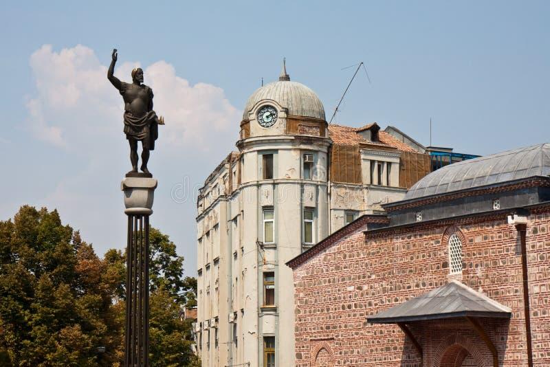 中心城市普罗夫迪夫 库存图片