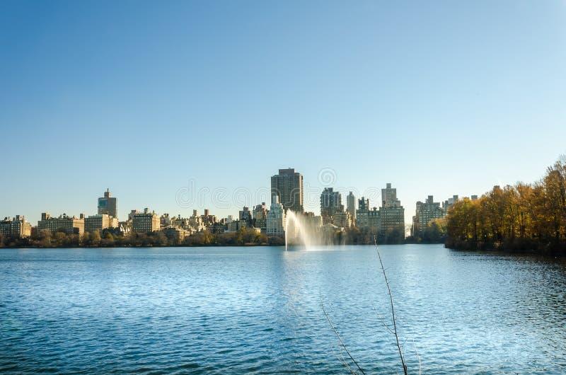 中心城市曼哈顿新的全景公园约克 免版税库存图片