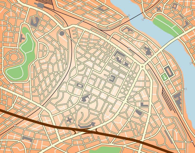 中心城市 向量例证