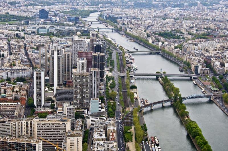 中心巴黎 库存照片