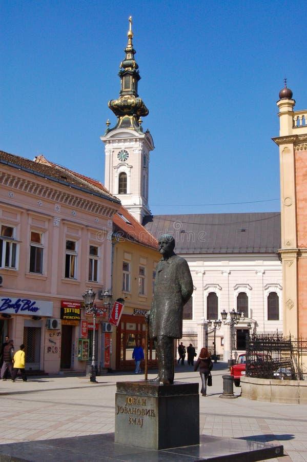 中心广场在哀伤的诺维 免版税库存照片