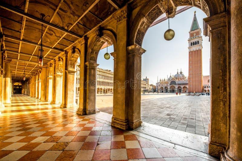 中心广场在威尼斯 免版税库存图片