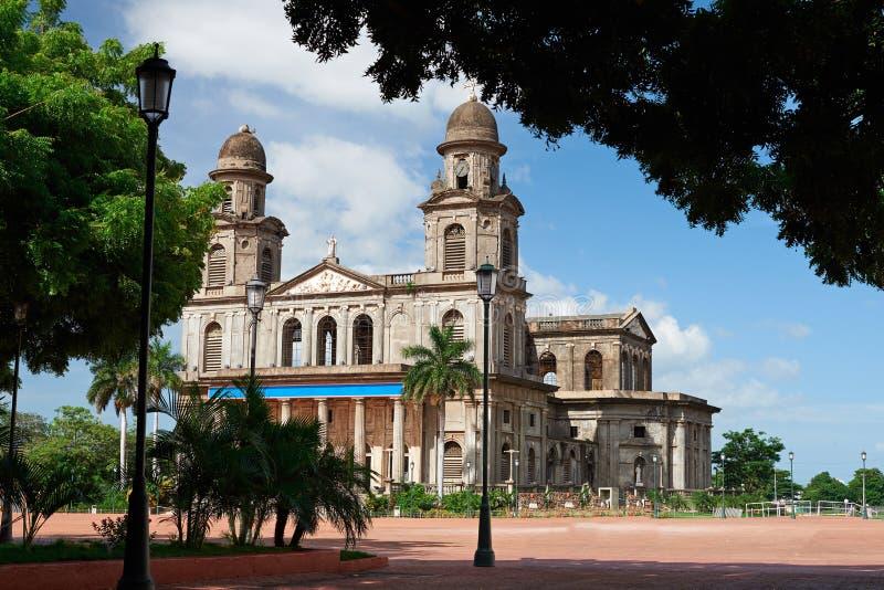 中心广场在马那瓜 免版税图库摄影
