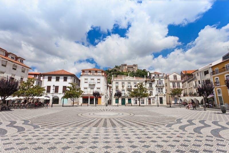 中心广场,莱利亚 免版税图库摄影