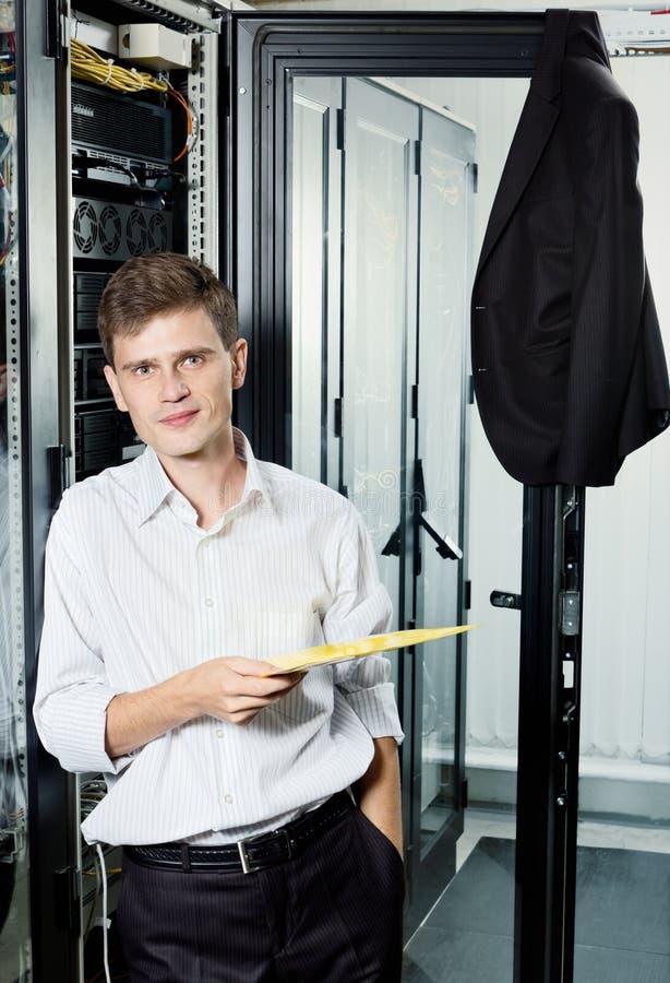 中心数据工程师立场诉讼 库存图片