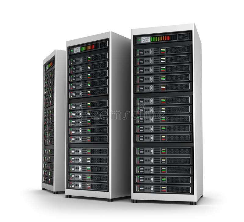 中心数据网行服务器 向量例证