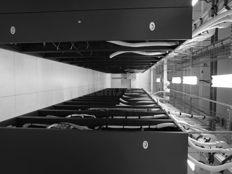 中心数据联盟机架 免版税库存图片