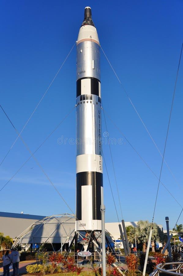 中心早期的肯尼迪火箭空间 免版税图库摄影