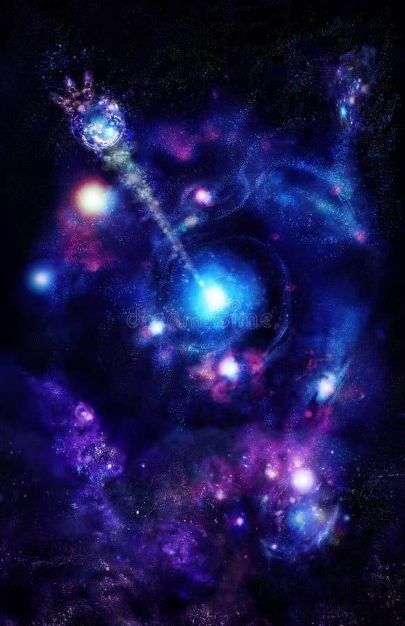 中心星系探测空间 向量例证