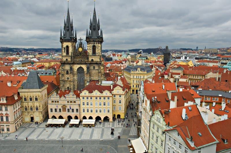 中心老布拉格方形城镇 图库摄影