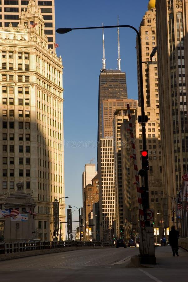 中心芝加哥汉考克・约翰塔 库存图片