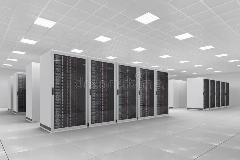 中心计算机 免版税库存图片
