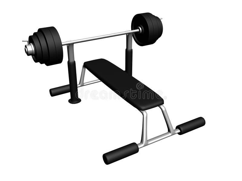 中心设备健身 库存例证
