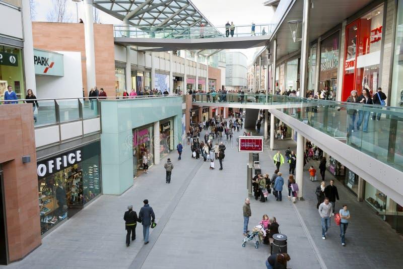 中心购物的利物浦一 库存图片