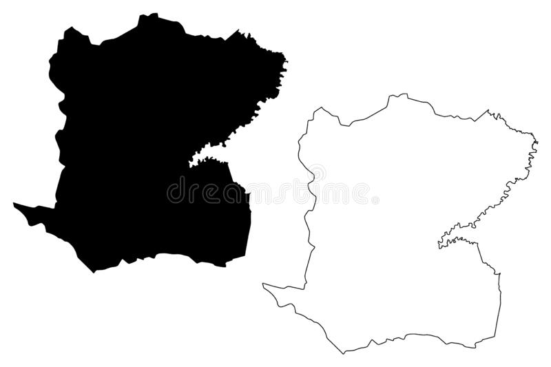 中心部门海地共和国,Hayti,伊斯帕尼奥拉岛,海地地图传染媒介例证,杂文剪影中心地图的部门 库存例证