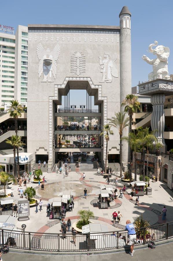 中心高地好莱坞 免版税库存图片