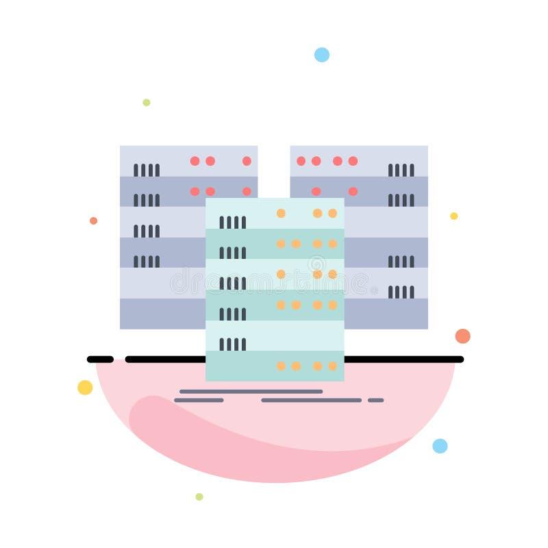 中心,中心,数据,数据库,服务器平的颜色象传染媒介 皇族释放例证