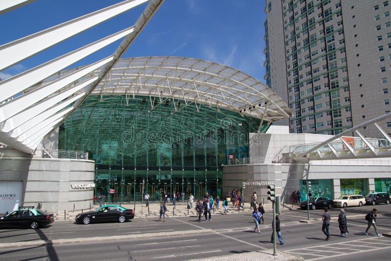 中心da gama购物瓦斯考 库存照片