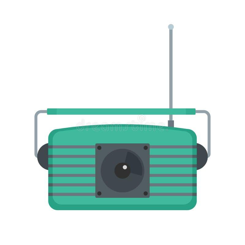 中心fm收音机象,平的样式 库存例证