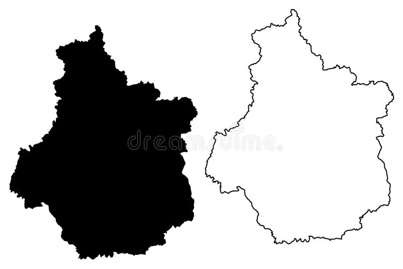 中心Val de卢瓦尔河地图传染媒介 向量例证