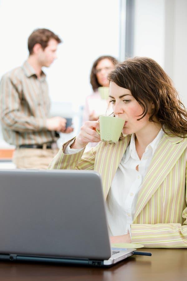 中断企业咖啡 库存照片