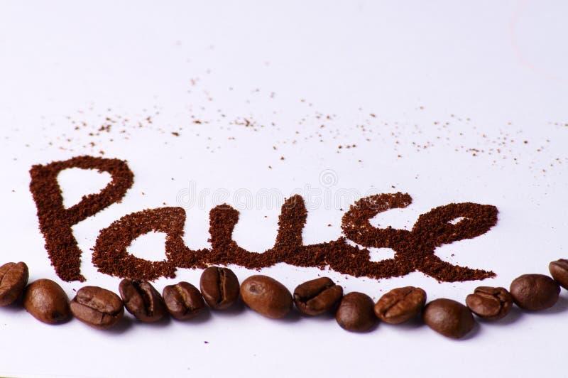 中断咖啡作为 免版税图库摄影