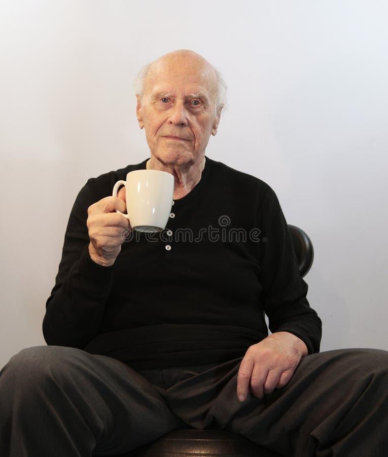 中断咖啡前辈 免版税图库摄影