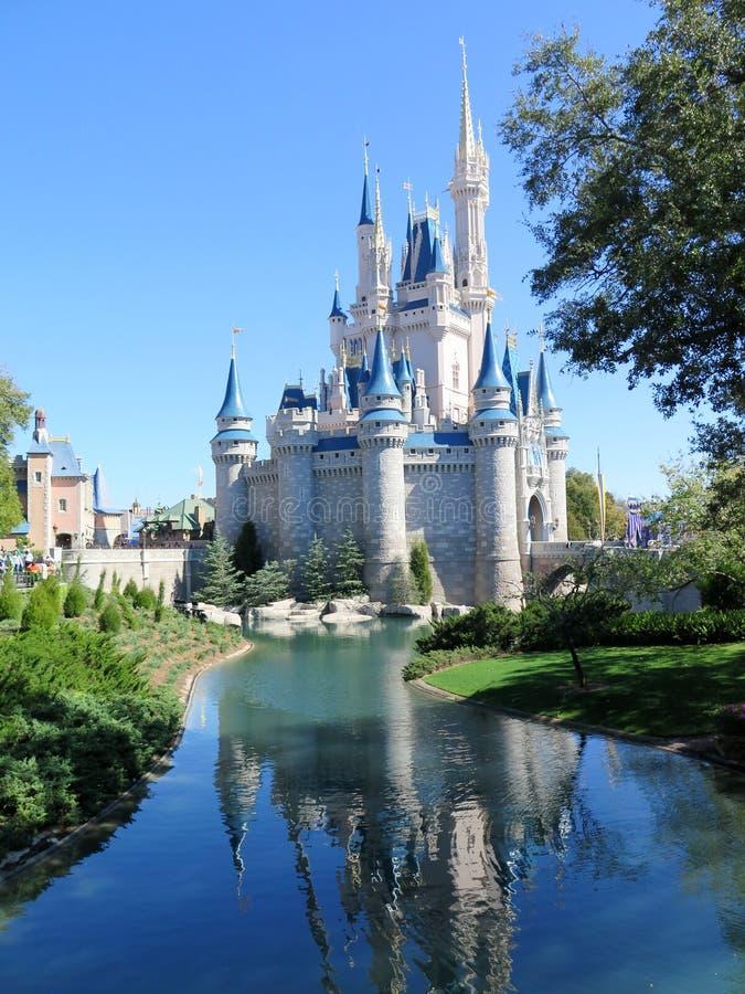 中断城堡灰姑娘fl王国魔术奥兰多弹簧 免版税库存照片