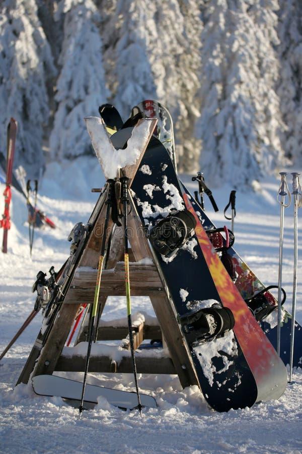 中断滑雪 图库摄影