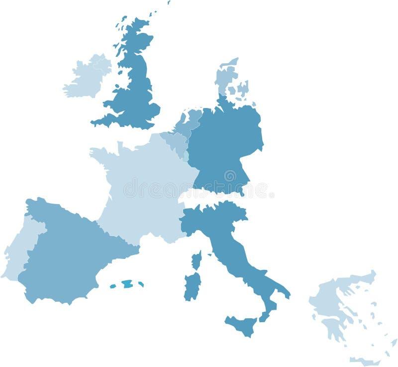 中欧映射 向量例证