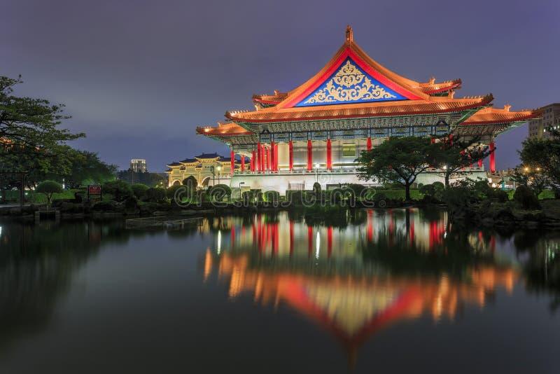 中正纪念堂在台北 免版税库存图片