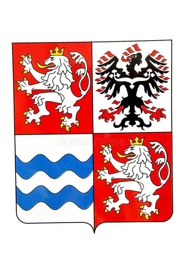 中波希米亚州象征 免版税库存图片