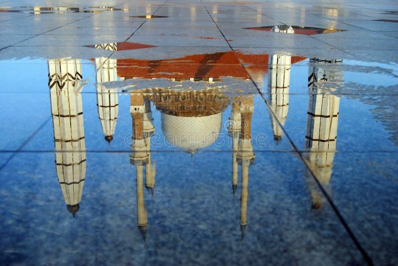 中爪哇省,三宝垄,印度尼西亚清真大寺  免版税库存照片