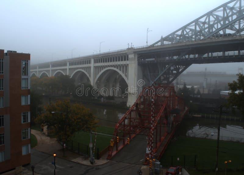 中环中心街平旋桥,克利夫兰,俄亥俄 库存图片