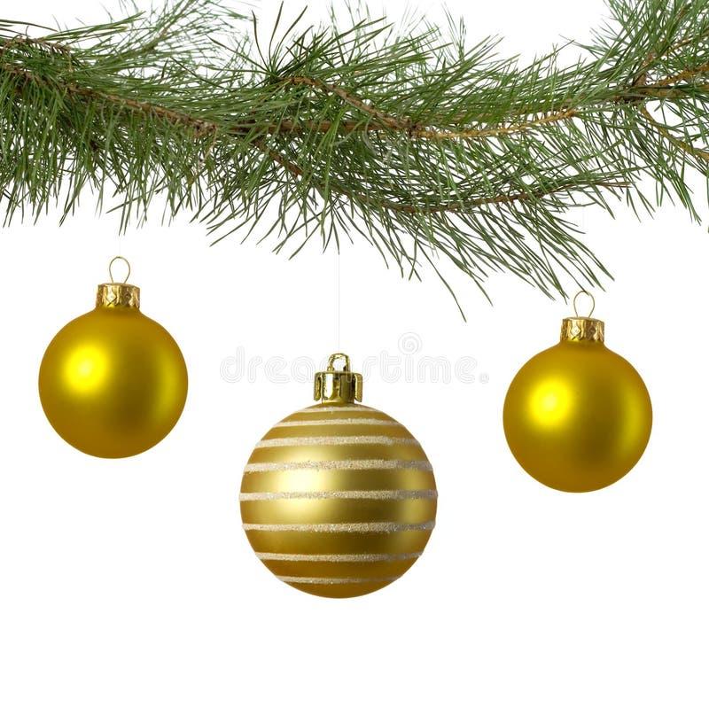 中看不中用的物品分行圣诞节金黄三 库存照片
