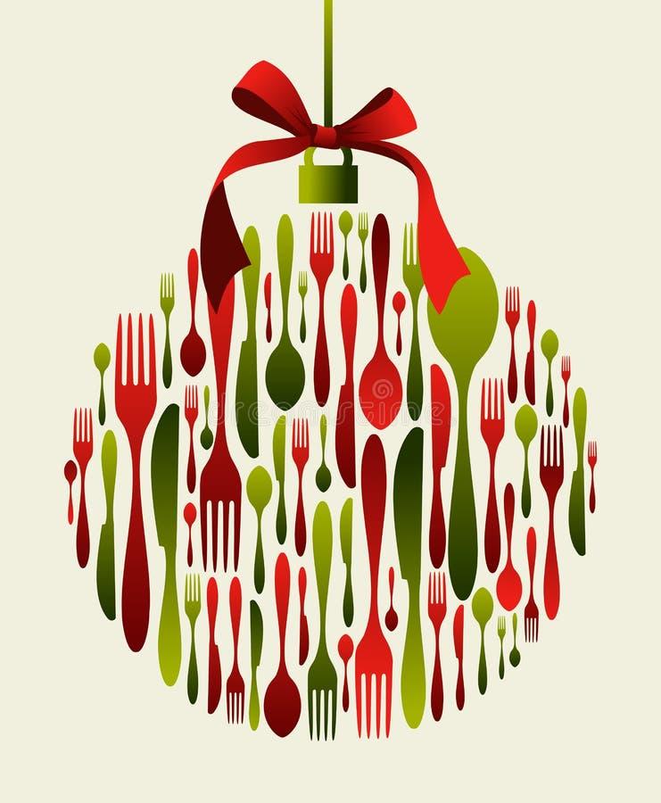 中看不中用的物品圣诞节刀叉餐具 库存例证