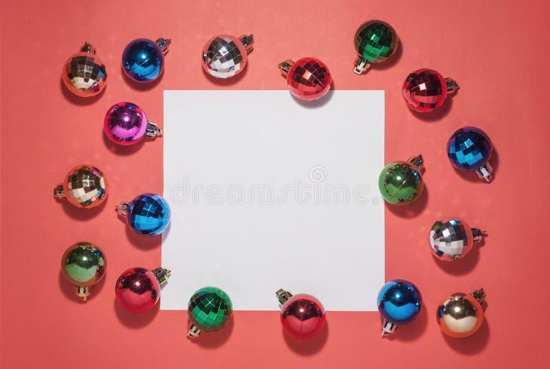 中看不中用的物品蓝色圣诞节构成玻璃 圣诞节玩具 库存图片