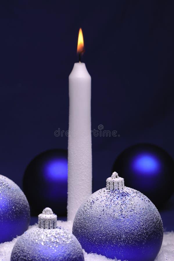 中看不中用的物品蜡烛圣诞节 免版税库存图片